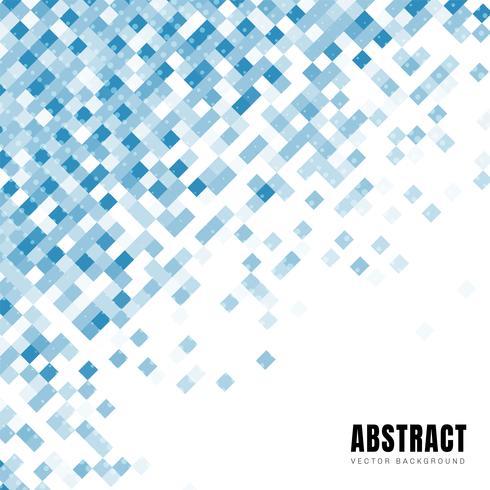 Il modello diagonale dei quadrati blu astratti con i punti semitono e copia lo spazio.