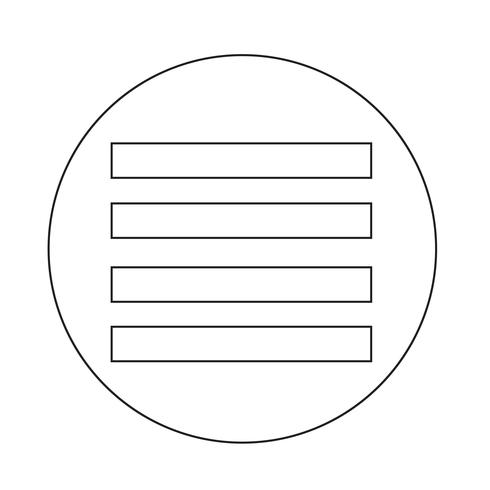"Symbol ""Text ausrichten"" vektor"