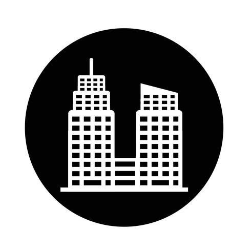Icono de edificio de oficinas