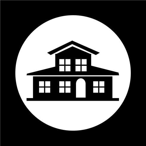 Icono de casa de campo