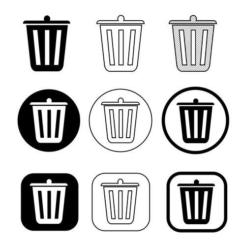 Papierkorb-Symbol