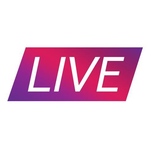 Live Streaming-Online-Zeichenvektordesign