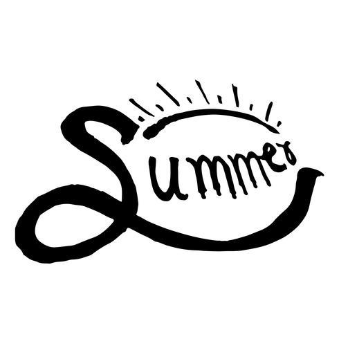 Summer Brush lettering background