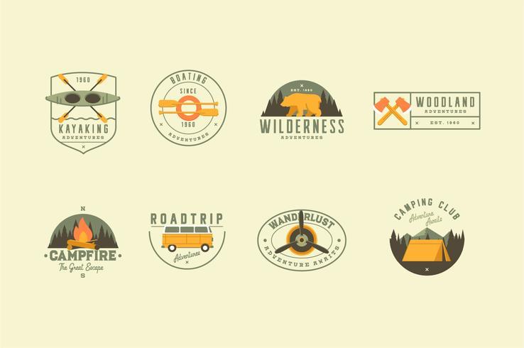 Travel adventure illustration logo collection