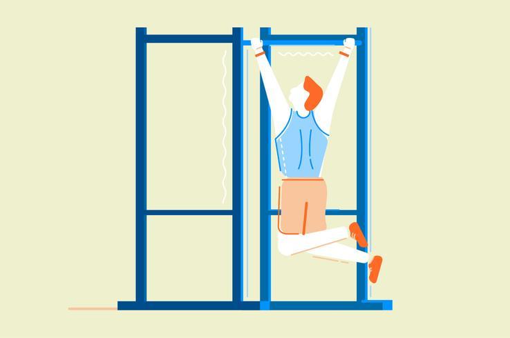 Illustration plat de gym fitness workouts vecteur