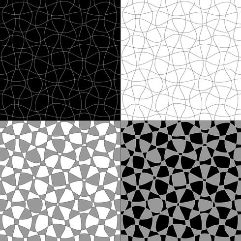 black white gray abstract vector patterns