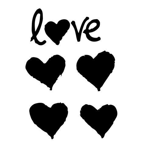 Herz Hand Zeichnen Icon Design