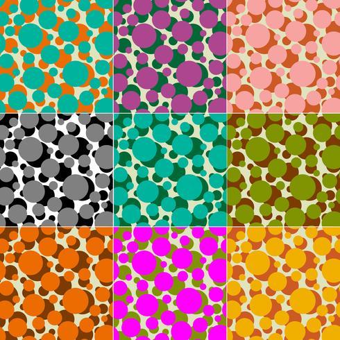 círculos superpuestos vector patrones