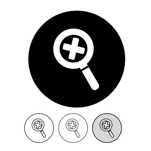 Suche Symbol Zeichen vektor