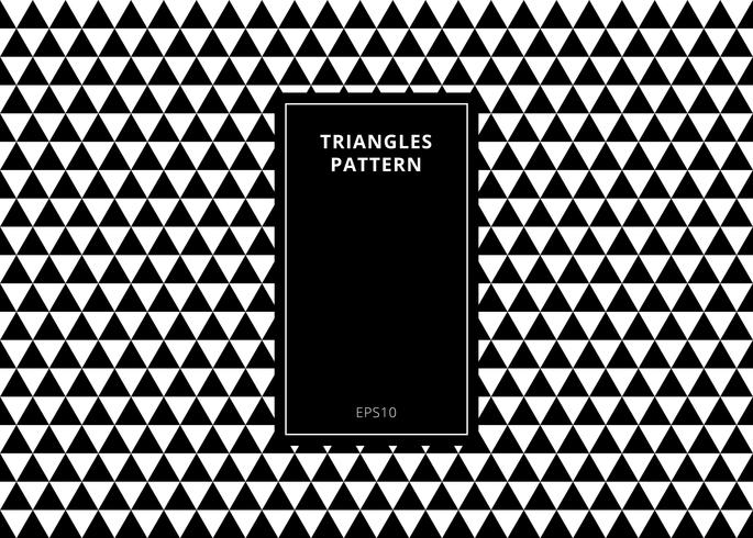 Modello senza cuciture geometrico elegante del fondo astratto fatto in triangoli in bianco e nero con lo spazio verticale della copia del blocco per grafici del rettangolo. vettore