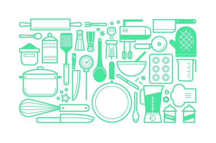 Flat cooking tools set bundle