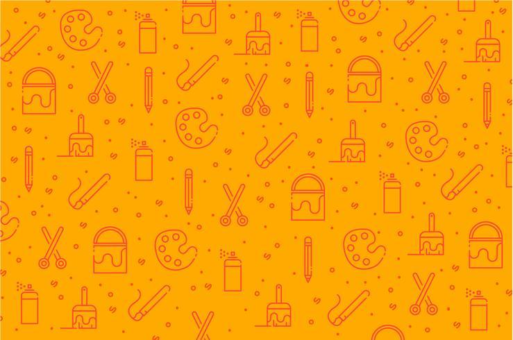 Fundo de padrão de ícone de ferramentas de arte
