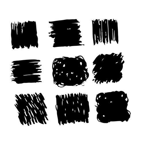 Linha de desenho de tinta de traçado de pincel mão desenhada