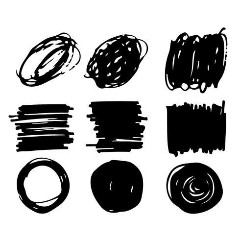 Vector mano dibujado trazo pincel tinta línea de boceto