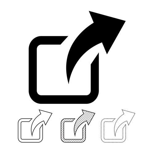 Partager l'icône graphique deign