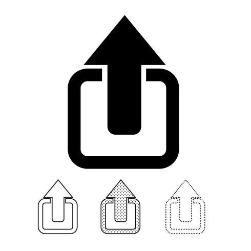 Dela ikon grafisk deign