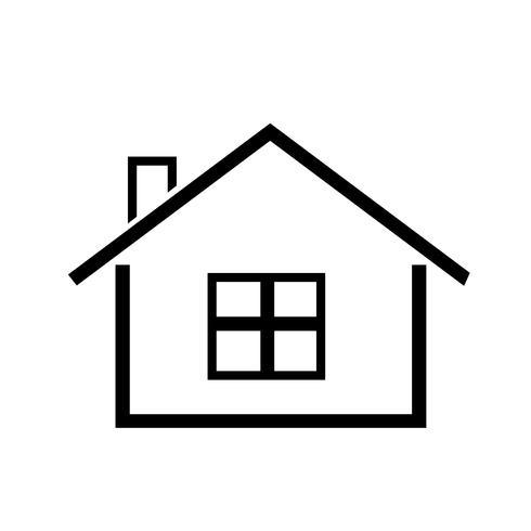 simbolo semplice icona casa