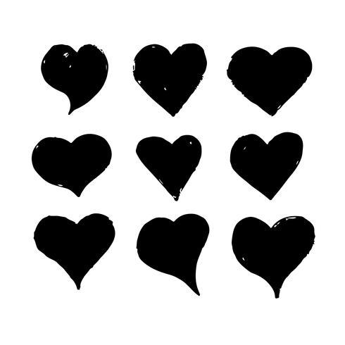 Heart hand draw icon design vector