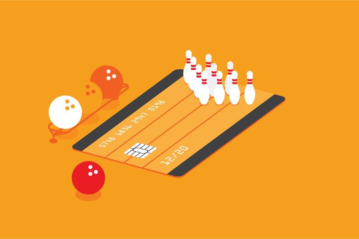 Creditcard entertainment voordeel illustratie