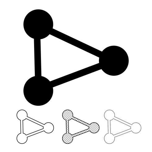 Partilhar o ícone gráfico deign vetor