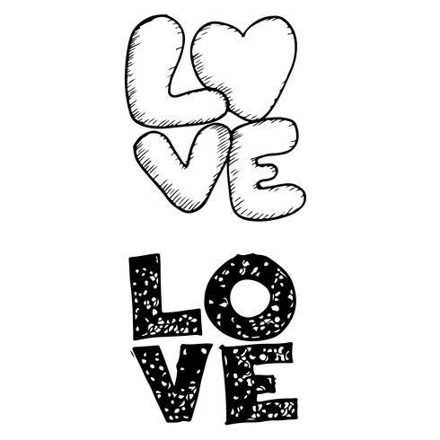 Handgeschriebener Briefgestaltungstext der Liebe
