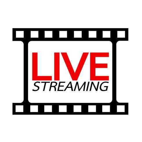 Live Streaming online sign vector design
