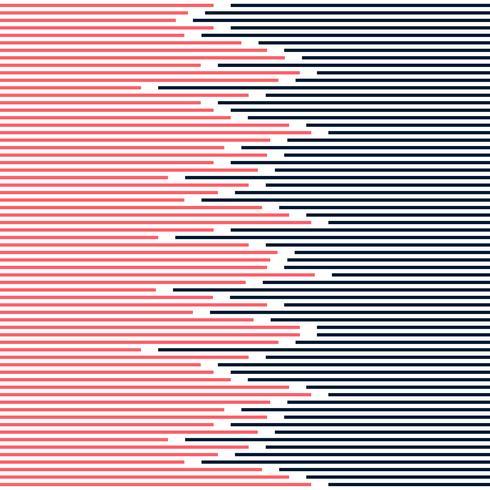 Linhas listradas abstratas teste padrão - azul escuro e cor-de-rosa no projeto mínimo da textura branca do fundo.