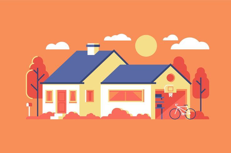 Husbyggnad bakgrunds illustration