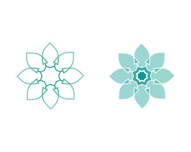 logotipo floral padrões e símbolos em um fundo branco