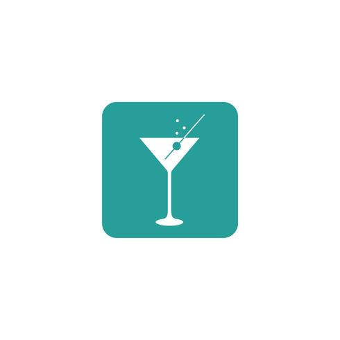 Cocktail Icon Logo Template Illustration Design. Vector EPS 10.