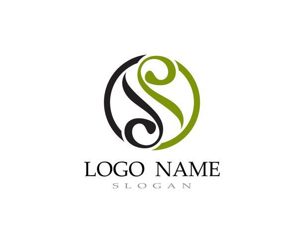 S logo vector línea plantilla de fuente