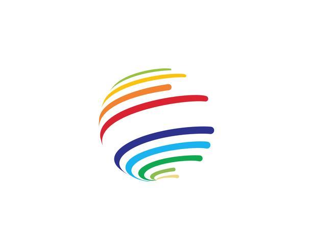 Colorful wire world logo icon - Vectors