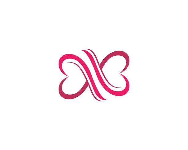 Logotipo de amor y símbolos vector plantilla
