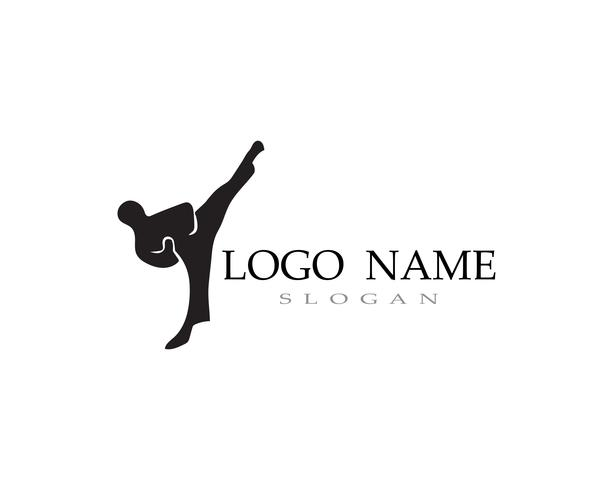 Karate och taekwondo logotyp slåss vektor