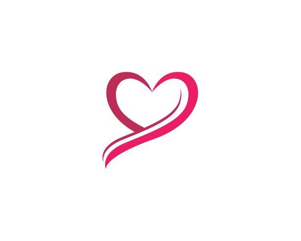 Hou van logo en symbolen Vector sjabloon