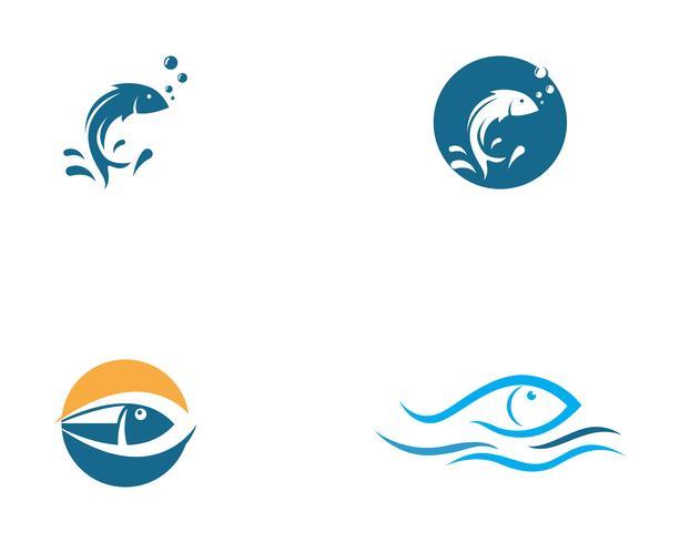 Modello di logo di pesce