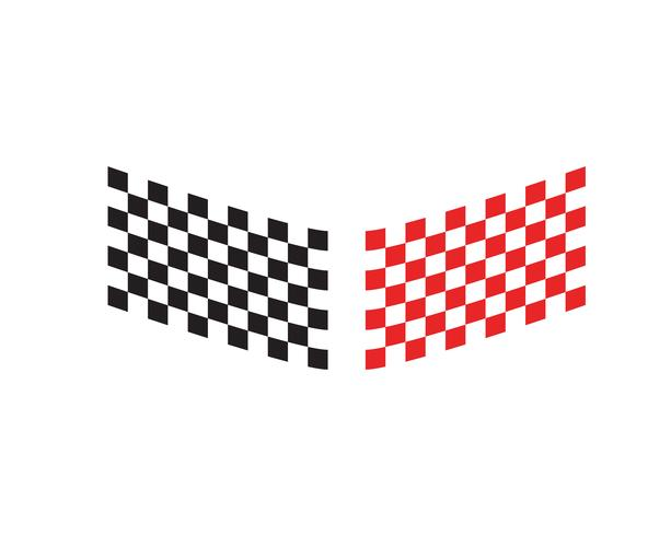 Race Flag-Symbol, einfaches Design Race Flag-Logo vektor