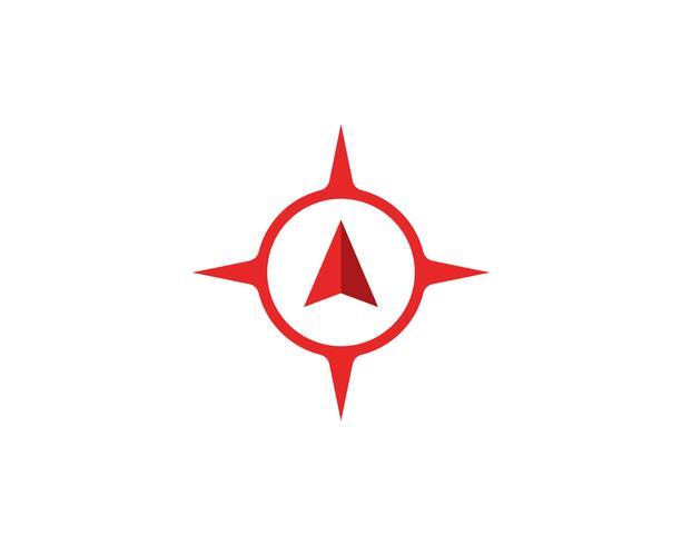 Kompas Logo Template vector pictogram illustratie ontwerp
