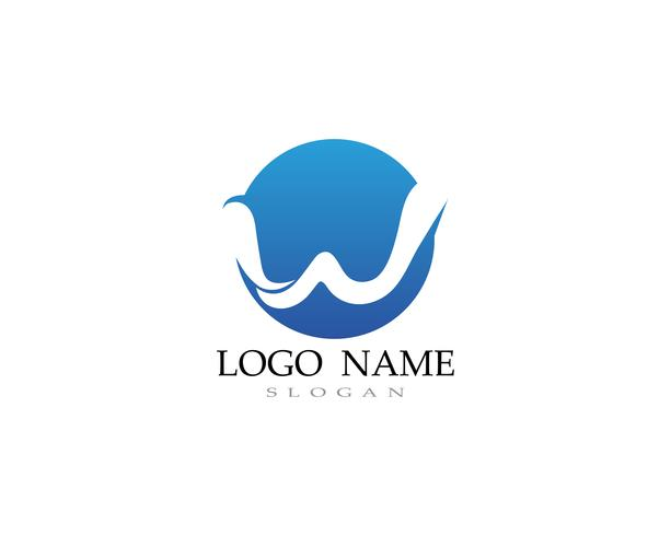 W logo and symbol business vectors