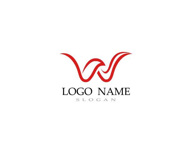 W logo and symbol business vectors