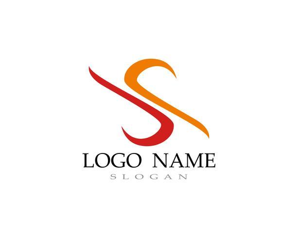 S logo vector lijnsjabloon lettertype