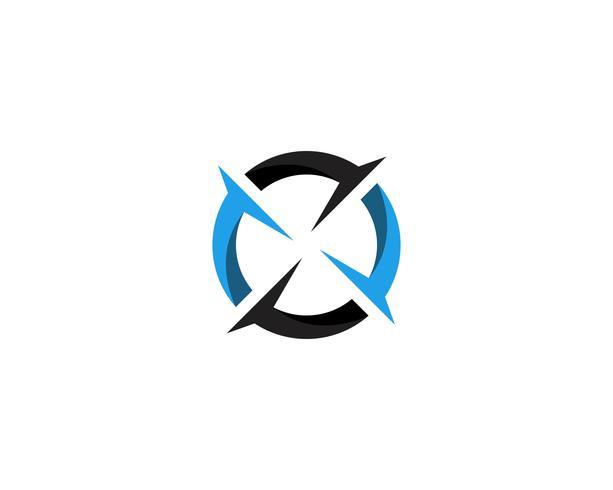 Kompass Logo Template-Vektorikonen-Illustrationsdesign