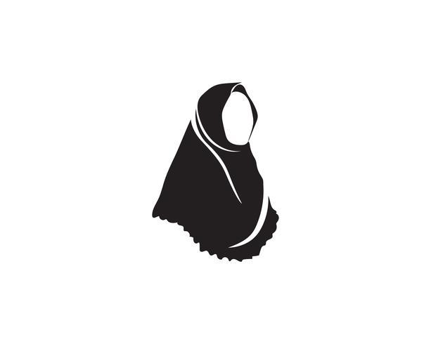 symbole de vecteur noir hijab