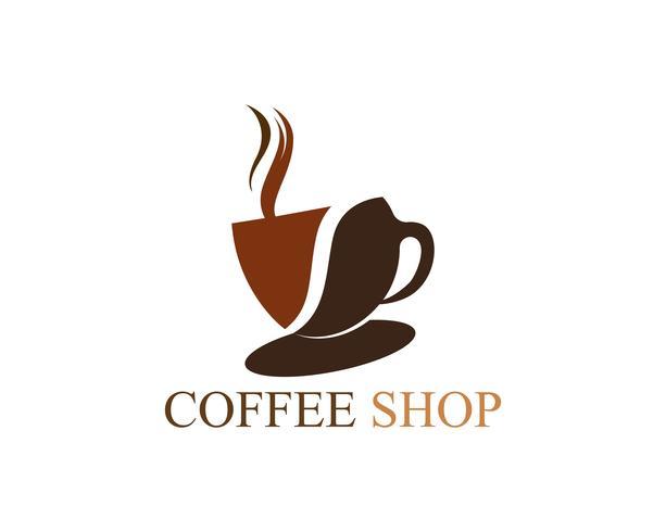 Tazza di caffè Logo Template