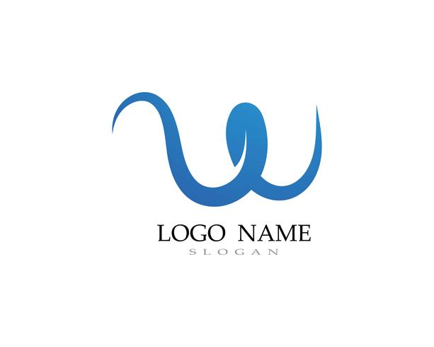 W logo y símbolo de vectores de negocios