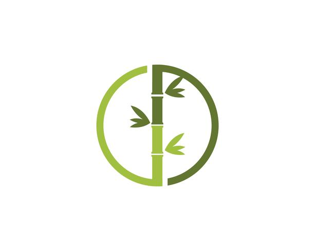 Bambu logotyp Mall vektorikonen
