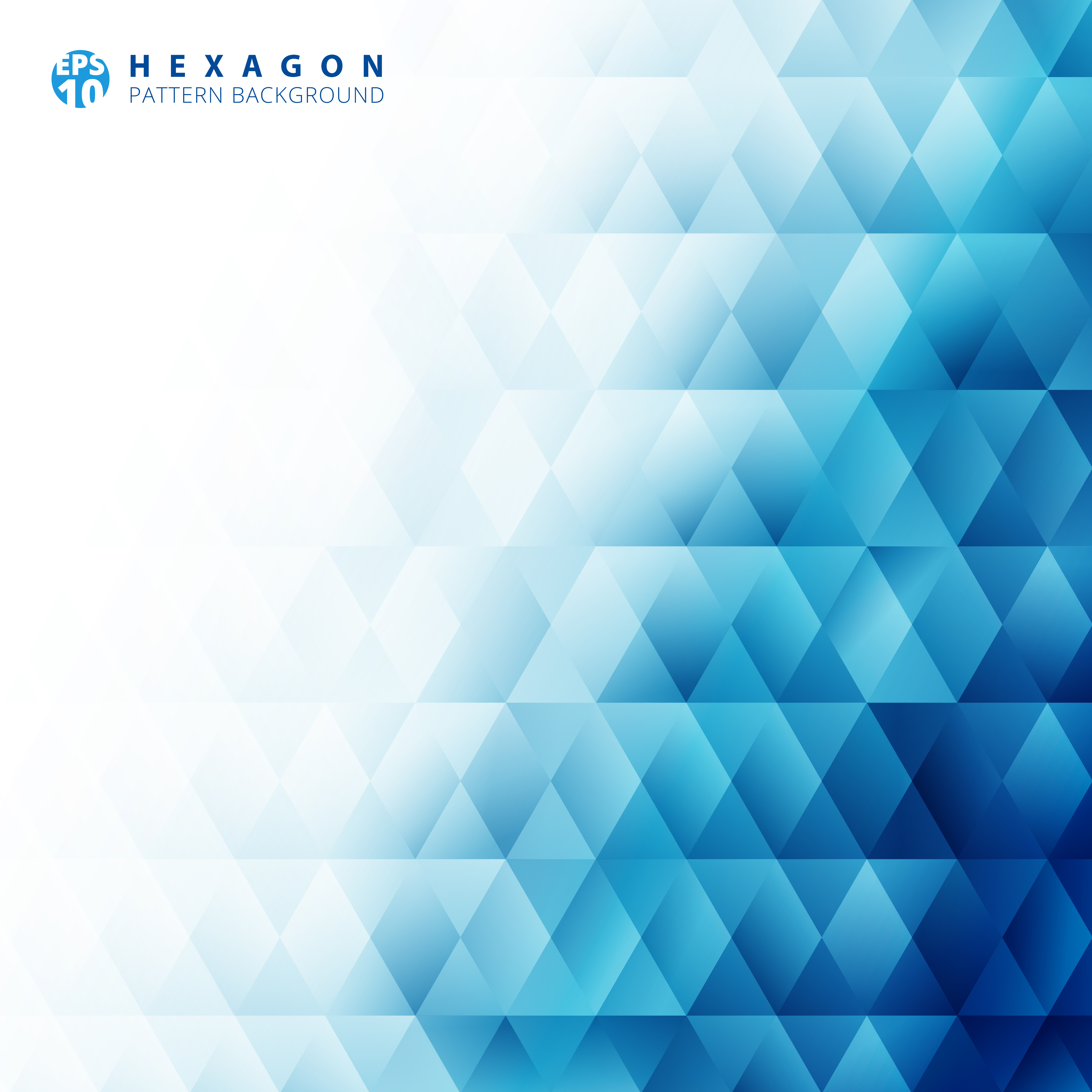 Abstract Blue Geometric Hexagon Pattern White Background