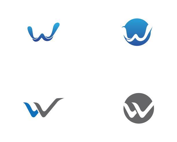Vecteurs de logo et de symbole W