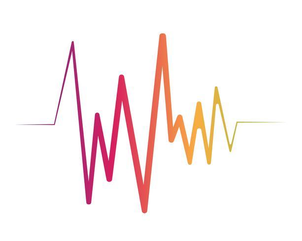 Onde sonore illustrazione vettoriale