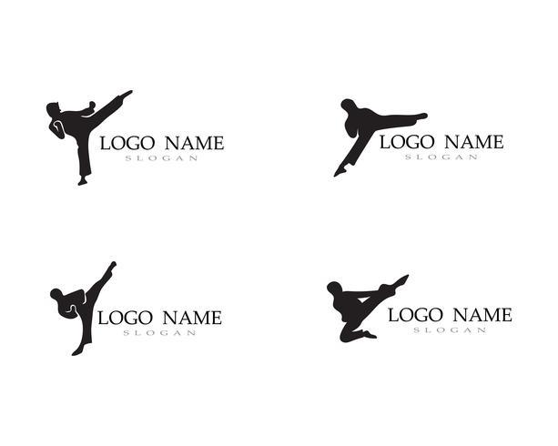 Karate- und Taekwondo-Logo kämpfen Vektor